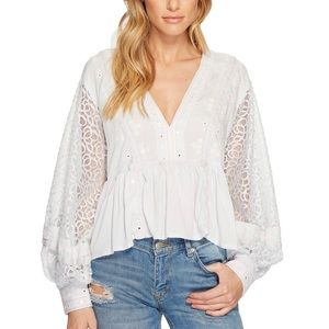 Free People Boogie All Night crop top blouse